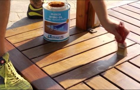 Rinnovare una pavimentazione esterna in legno bricoliamo - Pavimentazione giardino in legno ...