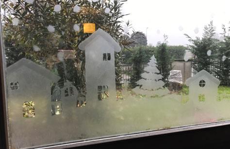 Paesaggio Invernale Natalizio Su Finestra Bricoliamo