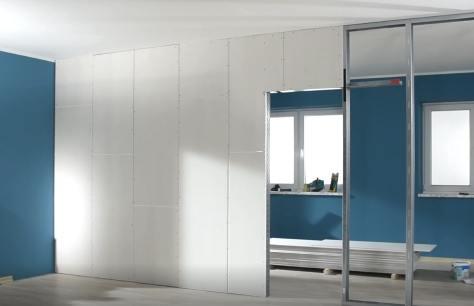 Costruire una parete in cartongesso bricoliamo - Parete in cartongesso con porta ...