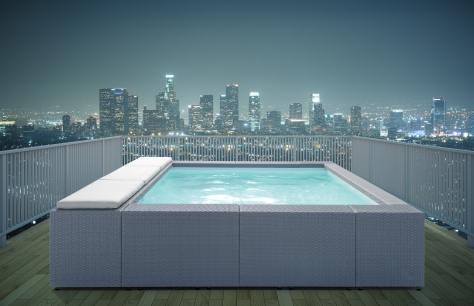 La piscina in terrazzo bricoliamo - Piscina gonfiabile terrazzo ...