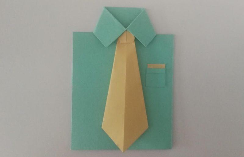 origami di camicia e cravatta