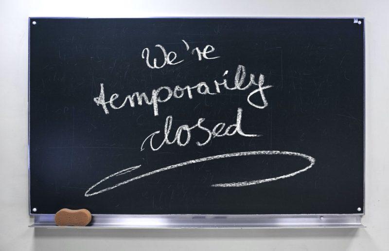 siamo temporaneamente chiusi