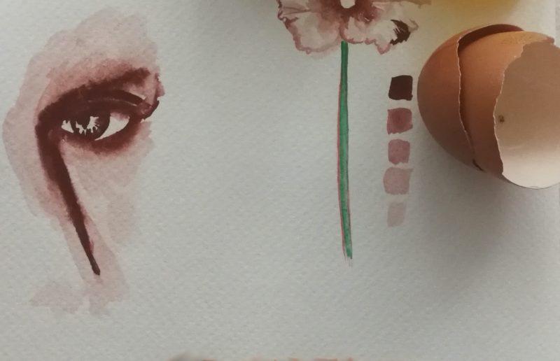 dipinto con uovo
