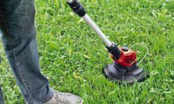 tagliare l'erba con il decespugliatore