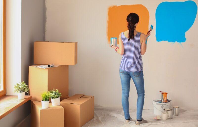 pitturare la parete