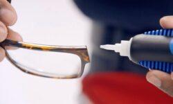 riparare e incollare gli occhiali