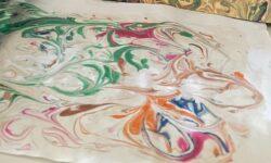 tecnica della marmorizzazione su carta
