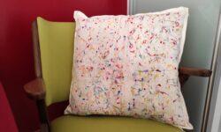 effetto marmorizzato su un cuscino