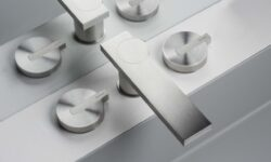 rubinetto miscelatore in acciaio inox