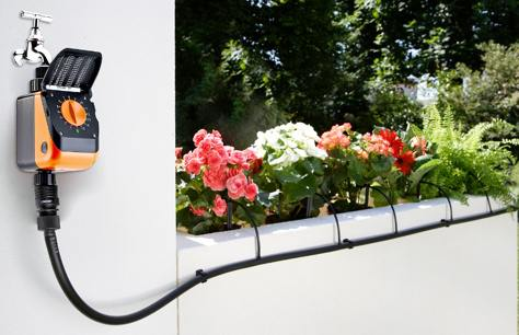 Kit irrigazione claber goccia 30mt giardino balcone for Kit irrigazione automatica