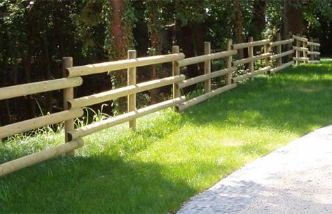 Staccionate in legno cherubin bricoliamo - Staccionate in legno per giardini ...