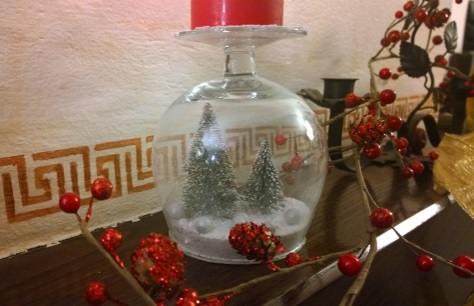La palla di neve natalizia costruita con oggetti riciclati - Presepi da esterno idee ...